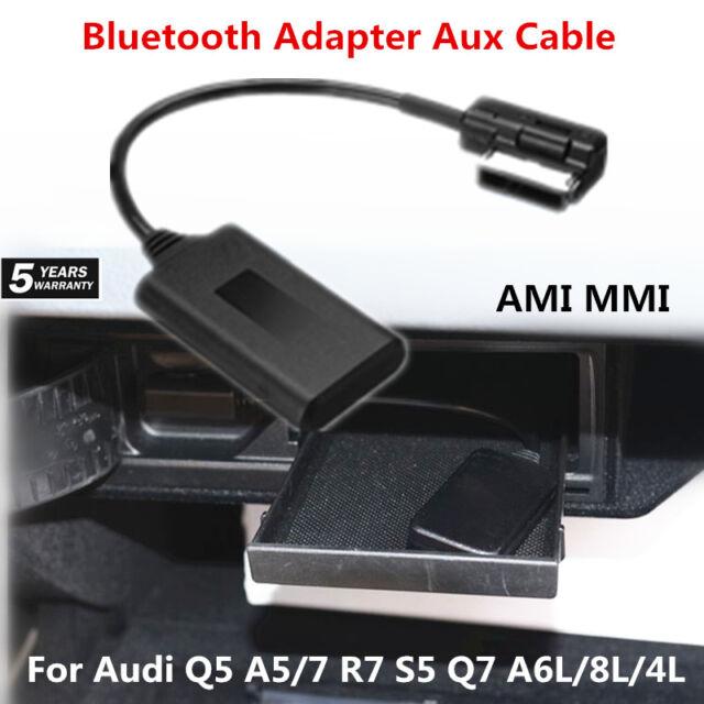 Car AMI MMI bluetooth Adapter Aux Cable For Audi Q5 A5//7 R7 S5 Q7 A6L//8L//4L 17cm