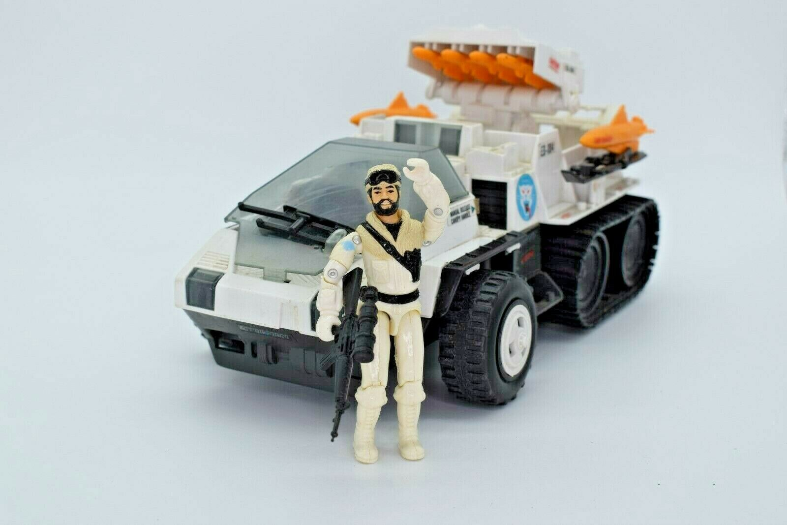 1984 GI Joe, ACTION FORCE, SNOWCAT, SNOW CAT, FROSTBITE, 1980S   produit de qualité