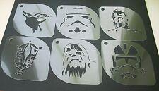 Set of 6pcs Star Wars Yoda Sandtrooper C-3PO Darth Maul Chewbacca Clone Stencil