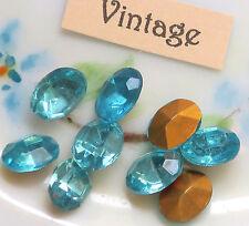 #786J Vintage Swarovski Oval Blue Foil Pointed 8x6mm NOS Sapphire Rhinestones