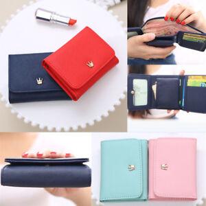 Mujer-Billeteras-carteras-Corona-titular-tarjeta-bolso-Mini-plegable-carpetas