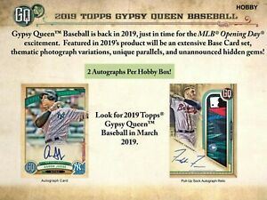 2019-Topps-Gypsy-Queen-Baseball-Hobby-Box-New-Sealed-1-MLB-player-signed-pic