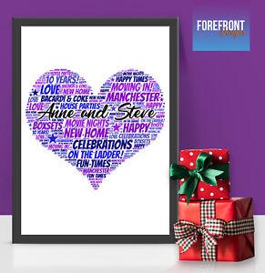 Personalizzato-New-Home-Word-Art-Print-regalo-perfetto-in-movimento-NUOVA-CASA-A4-A3