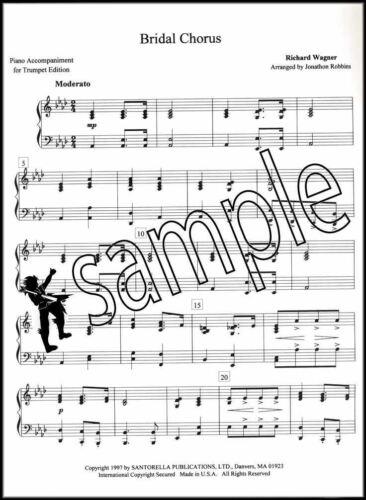 Bridal Chorus /& Menhelssohn/'s Wedding March Trumpet /& Piano Sheet Music Book