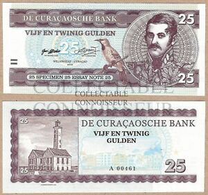 Curacao 25 Gulden 2016 UNC SPECIMEN Private Issue Test Note Banknote - Glasgow, United Kingdom - Curacao 25 Gulden 2016 UNC SPECIMEN Private Issue Test Note Banknote - Glasgow, United Kingdom
