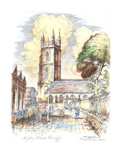 afbea1ca409ff Picture Of St.Johns Church Cardiff - By David Graham Jones Welsh ...