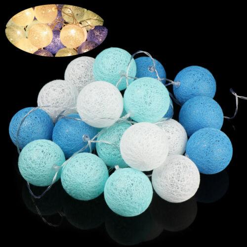 Lighting Cotton Ball LED String 20 LED Wicker Christmas Decoration Fairy Lights