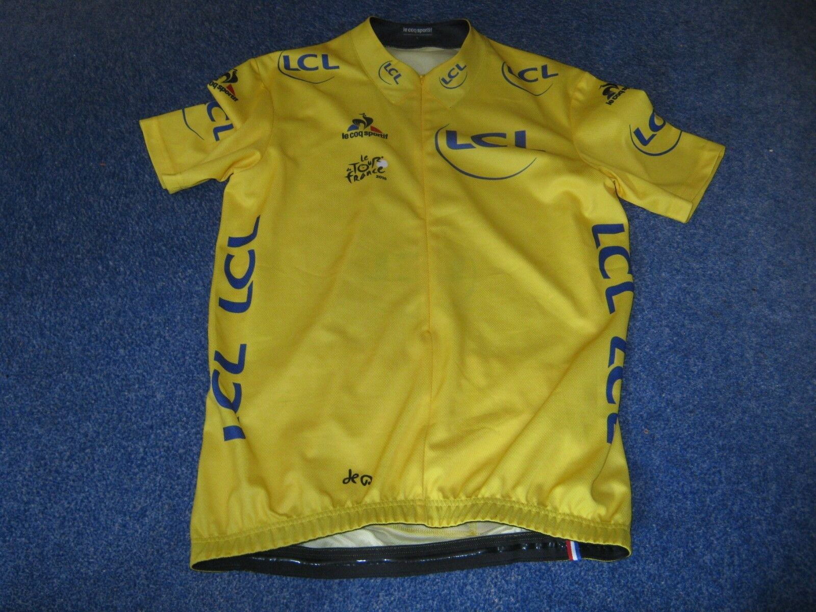 TOUR DE  FRANCE 2016 LCS YELLOW LEADERS CYCLING JERSEY [L]  100% authentic