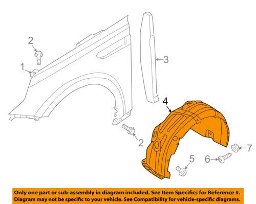 KIA OEM 16-18 Optima-Fender Liner Right 86812D5000