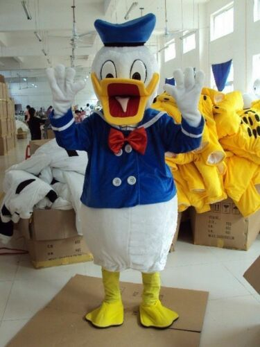 Donald Duck Kostüm Maskottchen Cosplay Kostüm Halloween Erwachsene