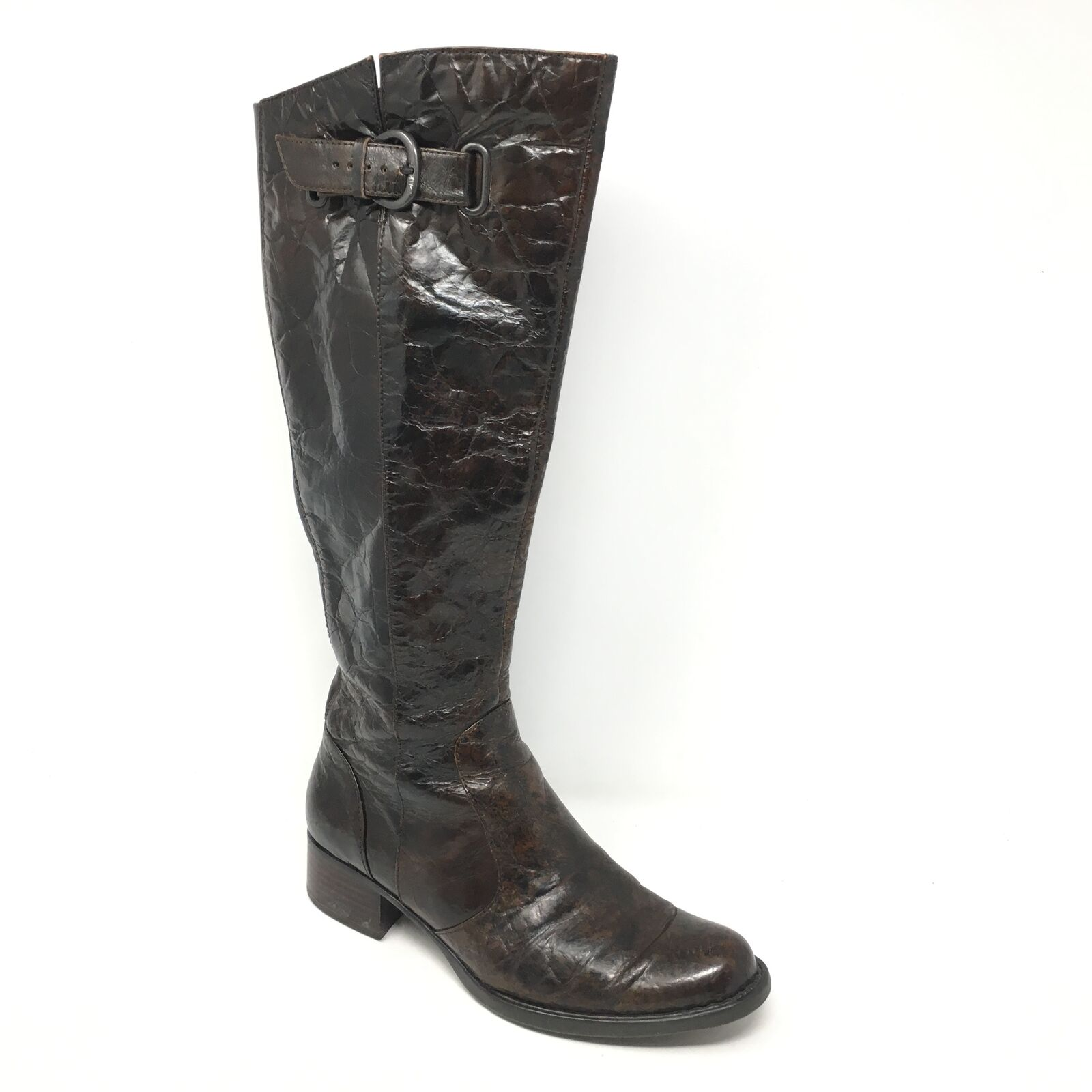 Women's Born Roxie Knee High Boots shoes Size 6M Brown Distressed Leather J7