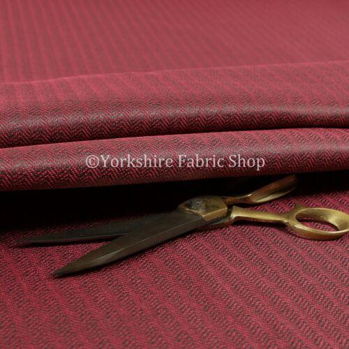 New Thick Medium Weight Herringbone Semi Plain Upholstery Fabric Pink Colour