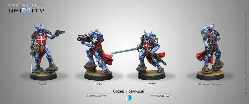 Infinity Corvus Belli Knights Hospitaller Panoceania box new