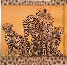 2 single paper napkin decoupage collection Serwetki Animal Africa Leopard Gepard