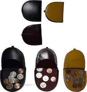Leather-change-purse-Coin-case-Camel-coin-case-change-purse-money-case-Br-New