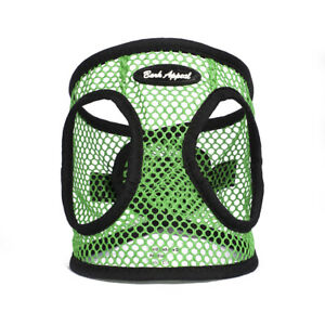 Bark-Appeal-EZ-Wrap-Netted-Dog-Step-In-Harness-Green-Sizes-XXS-XL
