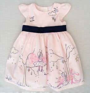 NEXT-Baby-Girls-Pink-Fairy-Glitter-Star-Bunny-Character-Applique-Dress-6-9months