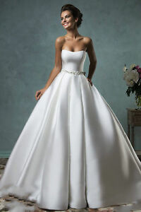 Ivory Satin Wedding Dress
