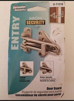 Defender Security Satin Nickel Swing Bar Door Guard with ...