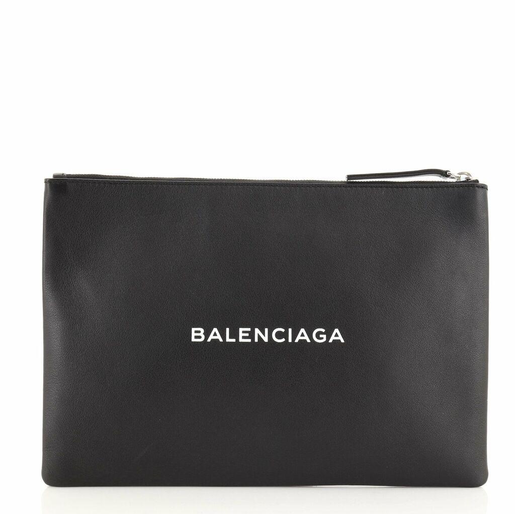 Balenciaga Everyday Logo Pouch Printed Leather Large  | eBay