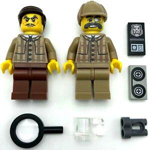 Lego-2-Neuf-Detective-Mini-Figurines-Prive-P-I-Hommes-avec-Accessoires
