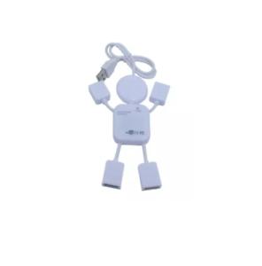 4-Port USB Human Shaped Hub (White)