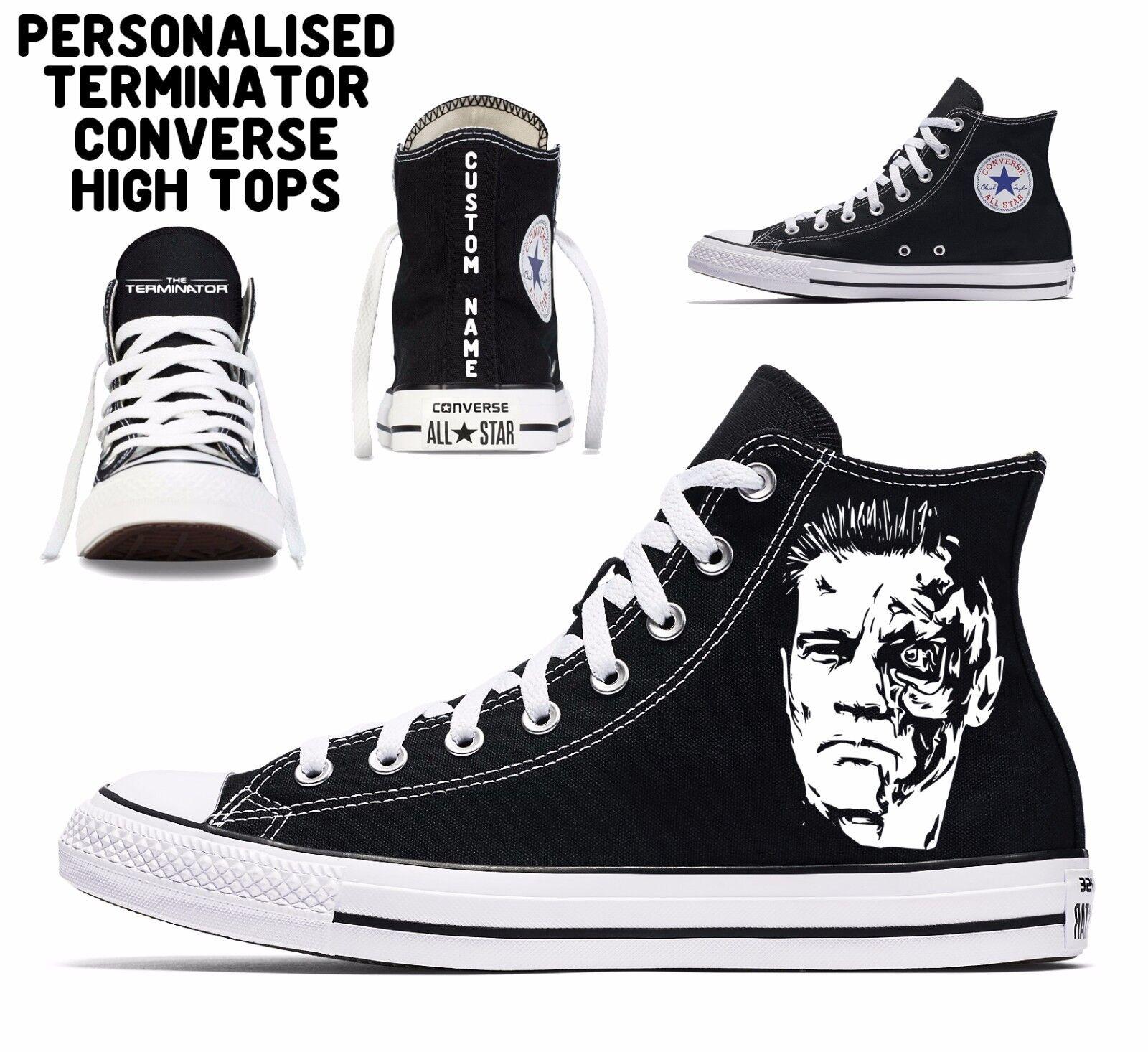 Personalised TERMINATOR personalizzato Converse All Star Uomo Donna High Tops NOME NOME Tops c400ef