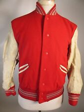 VTG Men's Whiting Varsity Snap Leather Jacket Size 42 11713
