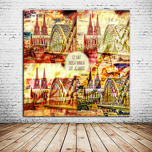 leinwand bild kunstdruck k lner dom wandbild in 60x60 cm als tolle geschenkidee ebay. Black Bedroom Furniture Sets. Home Design Ideas