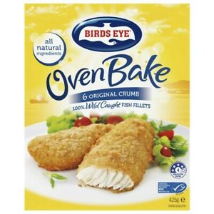 Birds Eye Frozen Fish Fillets With Original Crumb Oven Bake 6 pack 425g