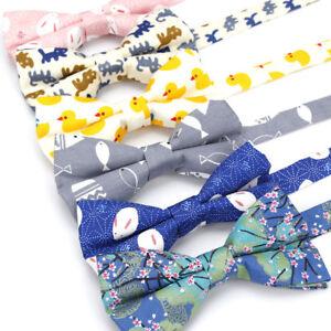 7-Styles-Adjustable-Men-039-s-Cartoon-Bow-Tie-Cotton-Tuxedo-Wedding-Casual-Butterfly