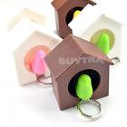 Useful Bird House Nest Whistle Key Holder Chain Ring Keychain Keyring Hanger