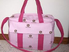 Pink striped John Deere EMIJANE custom  Diaper Bag wpd by  free embroidery