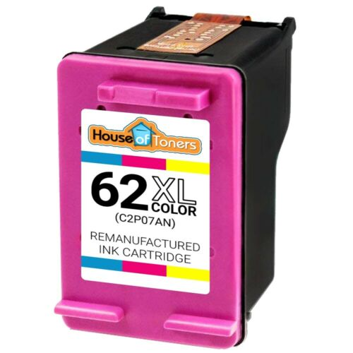 2 Black 1 Color Ink for HP ENVY 5660 7640 7645 C2P05AN /& C2P07AN 3PK 62XL