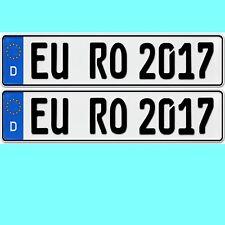 1 Paar Nummernschilder  für alle Marken Kennzeichen Standardgröße 520 x 110 mm