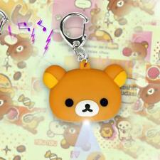 LED TEDDY BEAR KEYCHAIN w Light Sound Roaring Noise Rilakkuma Toy NEW Key Ring