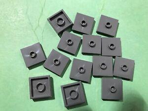 Alt 2x LEGO® Fliese//Kachel 2x2 rund 4150 NEU Dunkelgrau