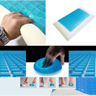 Premium Memory Foam White Bed Pillow Blue Cooling Comfort Gel Orthopedic Sleep