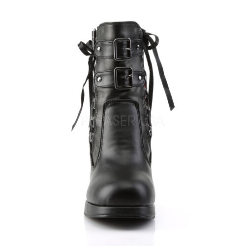 Details about  /DEMONIA Gothic Punk Lolita Platform Corset Style Ankle High Boots CRYP51//BRVL