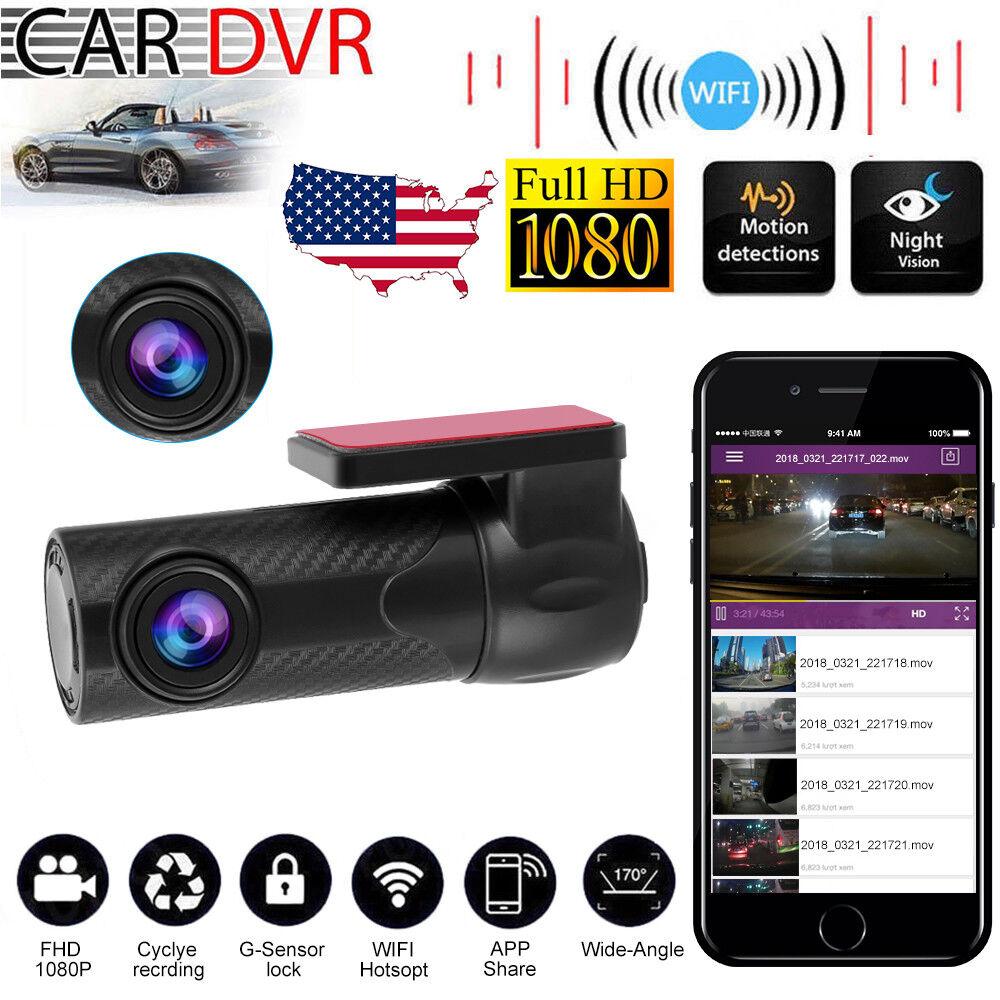 s-l1600 Full HD 1080P Wifi Car DVR Camera Video Recorder Dash Cam G-sensor GPS Mini 170°