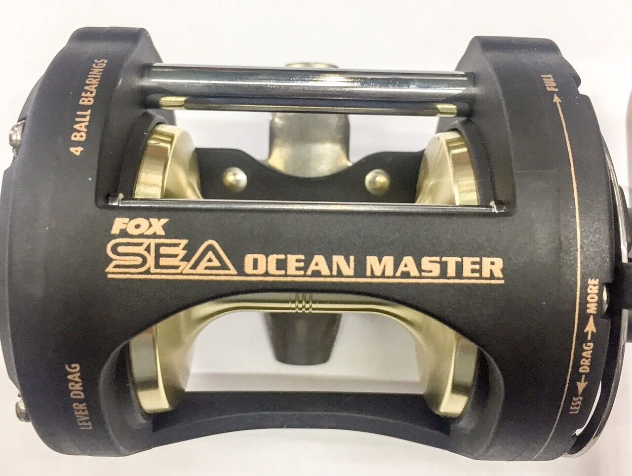 FOX SEA OCEAN MASTER T10 MULTIPLIER REEL RIGHT HANDLE    LEVER DRAG VINTAGE RAREST bc5054