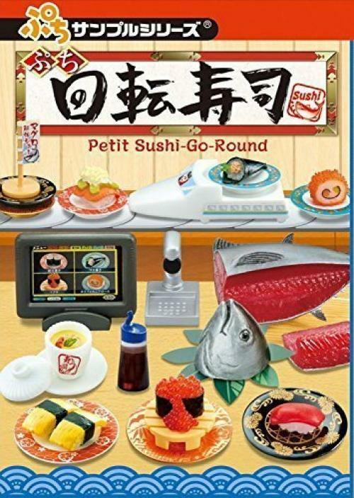 Re-Ment Miniature Petit Sample Sushi Go Around Full Set 8 pieces from Japan F S