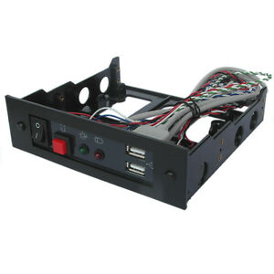 5-25-034-front-Bay-Module-with-USB-Port-LED-Reset-Button-Power-Switch-ECR9400USB