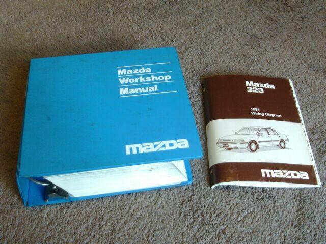 1991 Mazda 323 Protege Service Repair Shop Manual Wiring