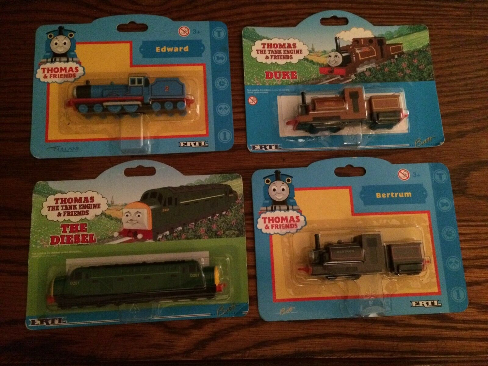 ERTL Lot of 4 Trains for the Early ERTL Die-Cast Trains New  See Description