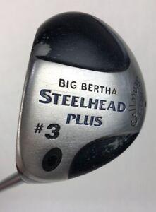 Callaway-Big-Bertha-Steelhead-Plus-Left-Handed-3-Wood-Firm-Flex-Graphite-Shaft