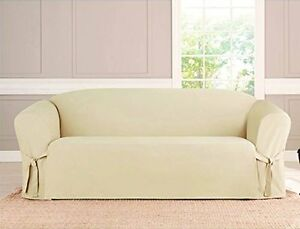 Image Is Loading Kashi Micro Suede Slipcover Sofa Loveseat Chair Furniture