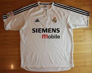 online retailer 0ac4f 344b3 Details about REAL MADRID 2002/2003 ZIDANE BECKHAM ERA FOOTBALL RARE SHIRT  JERSEY ADIDAS