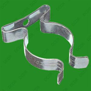 """10x T8 Open Terry clips 25 mm 1/"""" pouces Tube Fluorescent Ressort En Acier Porte-outil"""