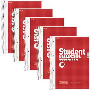 2-10-Bloecke-Brunnen-Collegeblock-Kollegblock-Student-Block-A4-karriert